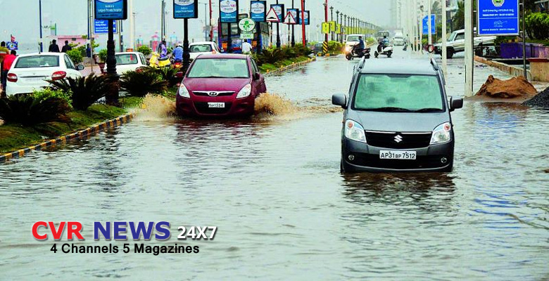 Hard rain in visakhapatnam